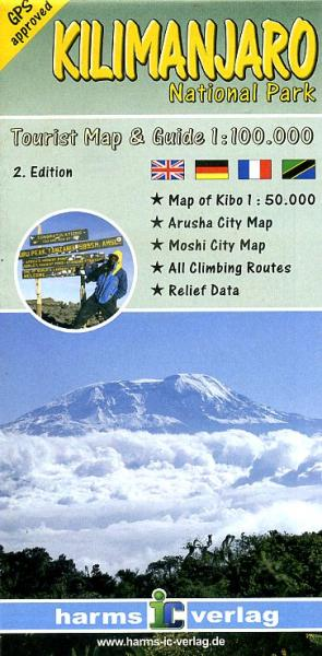 Kilimanjaro 1:100.000 9783927468290  Harms   Wandelkaarten Tanzania, Zanzibar