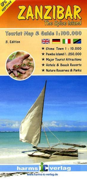 Zanzibar  1:100.000 9783927468306  Harms   Landkaarten en wegenkaarten Tanzania, Zanzibar