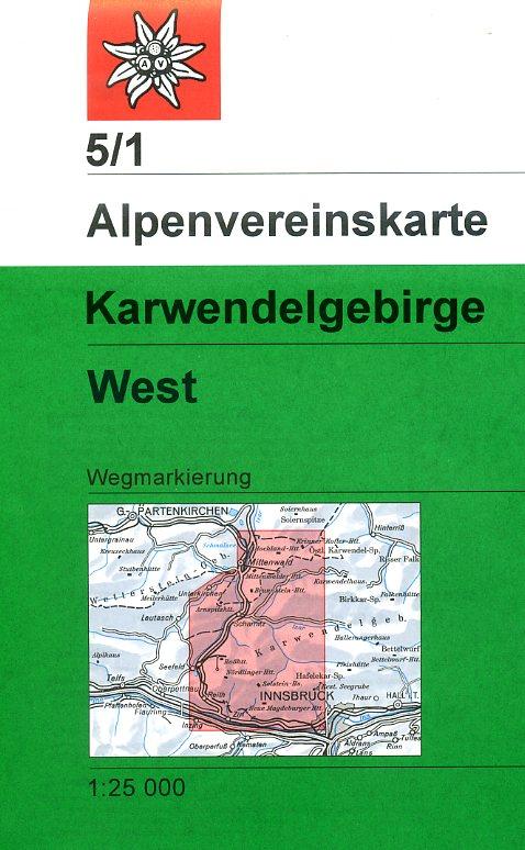 AV-05/1 Karwendel West [2013] Alpenvereinskarte wandelkaart 9783928777032  AlpenVerein Alpenvereinskarten  Wandelkaarten Tirol & Vorarlberg