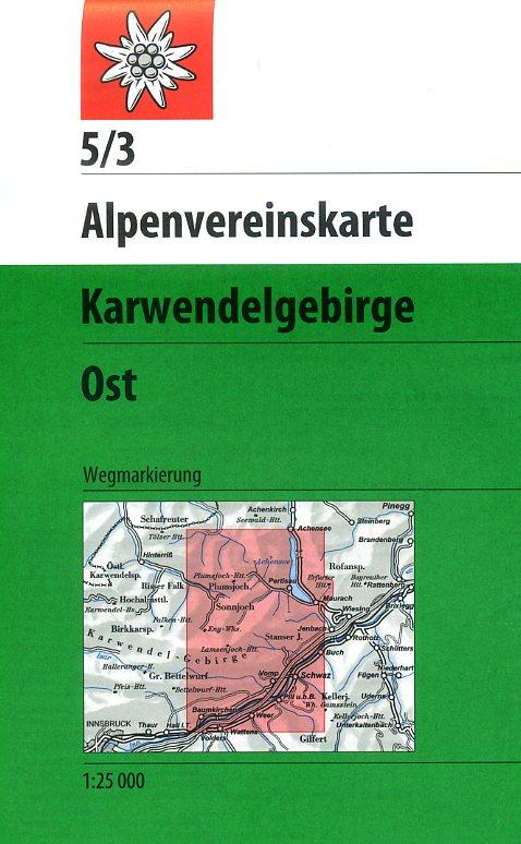 AV-05/3 Karwendel Ost [2015] Alpenvereinskarte wandelkaart 9783928777094  AlpenVerein Alpenvereinskarten  Wandelkaarten Tirol & Vorarlberg