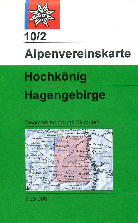 AV-10/2 Hagengebirge/Hochkönig [2015] Alpenvereinskarte wandelkaart 9783928777100  AlpenVerein Alpenvereinskarten  Wandelkaarten Salzburg, Karinthië, Tauern, Stiermarken