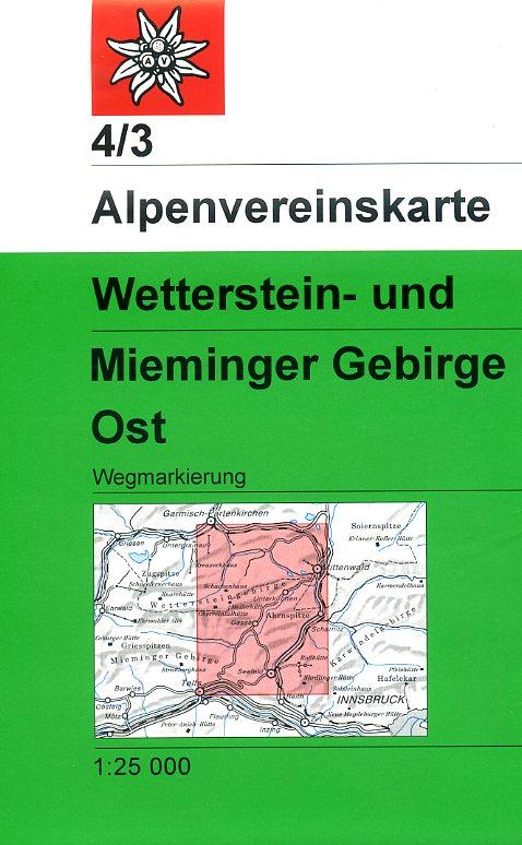 AV-04/3 Wetterstein + Mieminger Gebirge Ost [2011] Alpenvereinskarte wandelkaart 9783928777117  AlpenVerein Alpenvereinskarten  Wandelkaarten Tirol & Vorarlberg