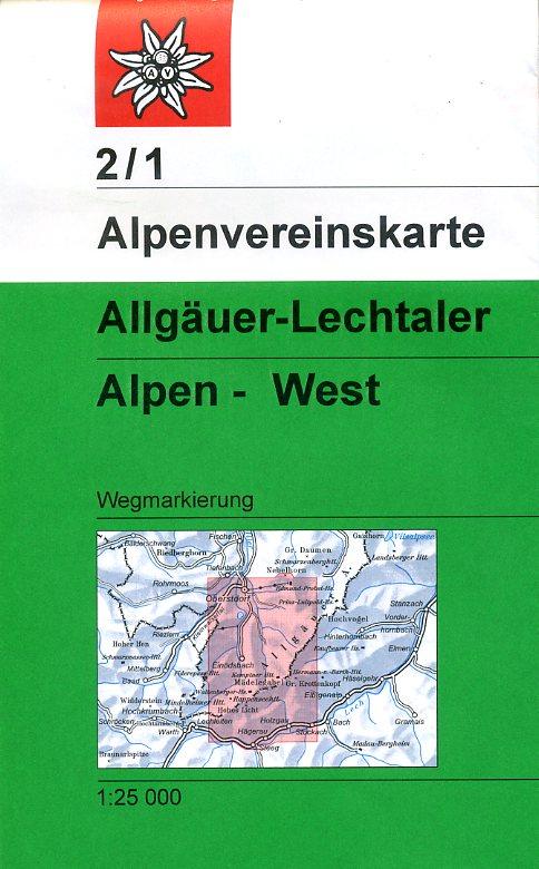 AV-02/1 Allgäuer/Lechtaler Alpen West [2012] Alpenvereinskarte wandelkaart 9783928777131  AlpenVerein Alpenvereinskarten  Wandelkaarten Tirol & Vorarlberg