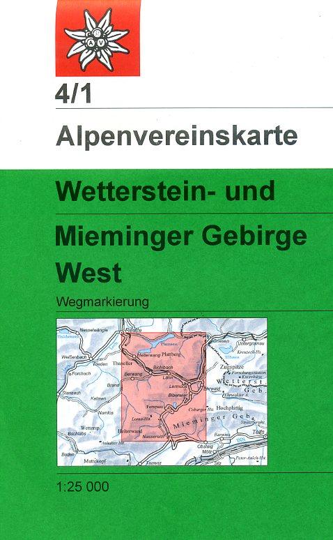 AV-04/1 Wetterstein + Mieminger Geb./ West [2016] Alpenvereinskarte wandelkaart 9783928777193  AlpenVerein Alpenvereinskarten  Wandelkaarten Tirol & Vorarlberg
