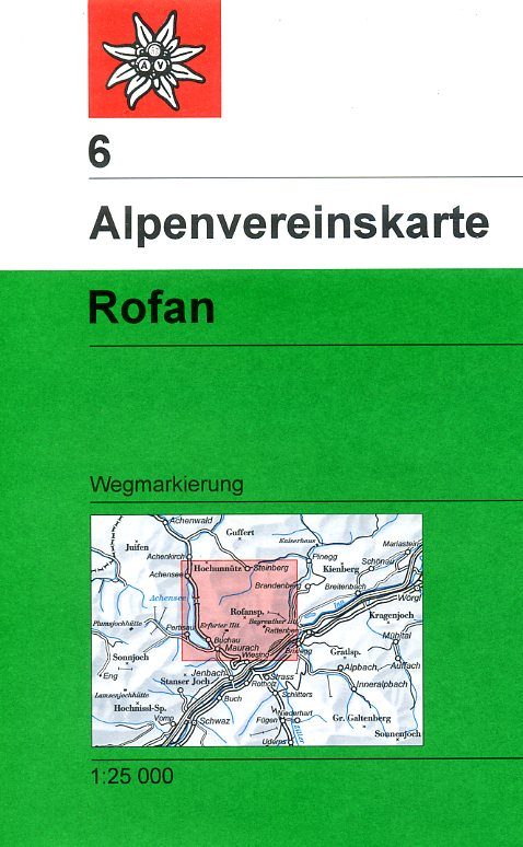 AV-06 Rofan [2013] Alpenvereinskarte wandelkaart 9783928777223  AlpenVerein Alpenvereinskarten  Wandelkaarten Tirol & Vorarlberg
