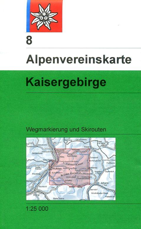 AV-08 Kaisergebirge [2016] Alpenvereinskarte wandelkaart 9783928777230  AlpenVerein Alpenvereinskarten  Wandelkaarten Tirol & Vorarlberg