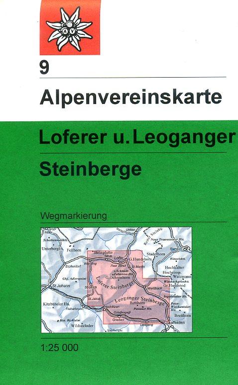 AV-09  Loferer und Leoganger Steinberge [2018] Alpenvereinskarte wandelkaart 9783928777247  AlpenVerein Alpenvereinskarten  Wandelkaarten Salzburg, Karinthië, Tauern, Stiermarken