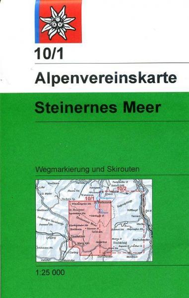 AV-10/1 Steinernes Meer [2013] Alpenvereinskarte wandelkaart 9783928777261  AlpenVerein Alpenvereinskarten  Wandelkaarten Salzburg, Karinthië, Tauern, Stiermarken