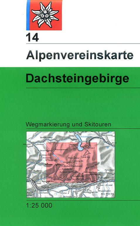 AV-14 Dachstein 1:25.000 [2012] Alpenvereinskarte wandelkaart 9783928777278  AlpenVerein Alpenvereinskarten  Wandelkaarten Salzburg, Karinthië, Tauern, Stiermarken