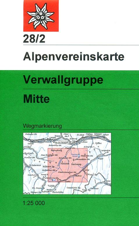 AV-28/2  Verwallgruppe Mitte [2016] Alpenvereinskarte wandelkaart 9783928777360  AlpenVerein Alpenvereinskarten  Wandelkaarten Tirol & Vorarlberg