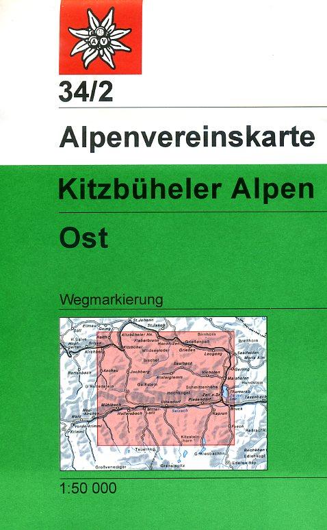 AV-34/2 Kitzbüheler Alpen/Ost [2015] Alpenvereinskarte wandelkaart 9783928777476  AlpenVerein Alpenvereinskarten  Wandelkaarten Salzburg, Karinthië, Tauern, Stiermarken