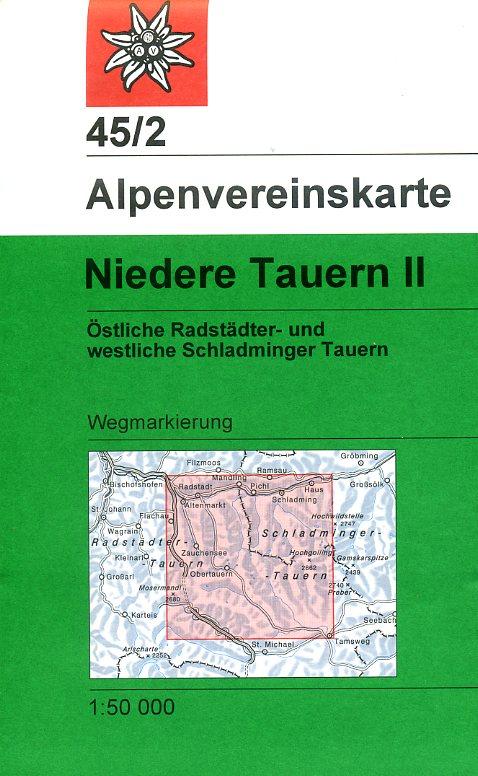 AV-45/2 Niedere Tauern II [2016] Alpenvereinskarte wandelkaart 9783928777810  AlpenVerein Alpenvereinskarten  Wandelkaarten Salzburg, Karinthië, Tauern, Stiermarken