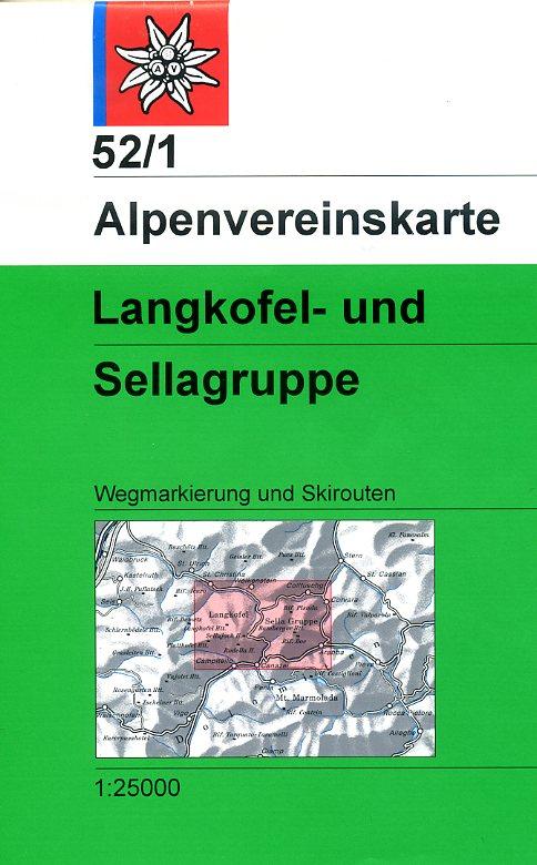 AV-52/1 Langkofel + Sella 1:25.000 [2007] Alpenvereinskarte wandelkaart 9783928777834  AlpenVerein Alpenvereinskarten  Wandelkaarten Zuid-Tirol, Dolomieten