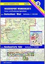 Teil 2  Deutschland West 9783929540215  DKV/Jübermann Wassersp. 1:550.000  Watersportboeken Nordrhein-Westfalen