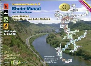 TourenAtlas Wassenwandern (TA3) - Rhein-Mosel und Nebenflüsse 9783929540765  Jübermann   Fietsgidsen, Watersportboeken Duitsland