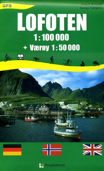 Projekt Nord: Lofoten 1:100.000, Vaeroy 1:50.000 9783931099268  Mollenhauer & Treichel   Wandelkaarten Noorwegen boven de Sognefjord