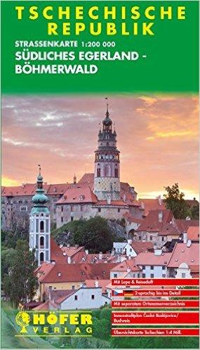 CS-004 Südliches Egerland-Böhmerwald 1:200.000 9783931103040  Höfer Verlag   Landkaarten en wegenkaarten Tsjechië