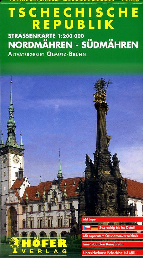 CS-006 Nordmähren-Südmähren 9783931103064  Höfer Verlag   Landkaarten en wegenkaarten Tsjechië