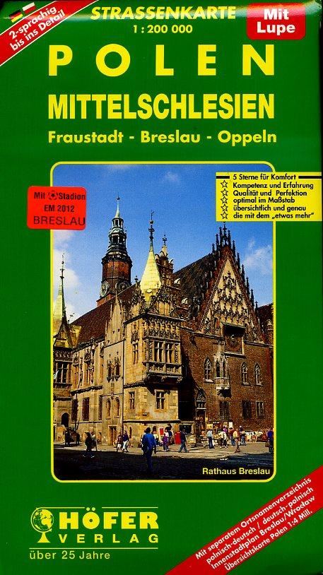 PL-006 Polen, Mittelschlesien 1:200.000 9783931103125  Höfer Verlag   Landkaarten en wegenkaarten Polen