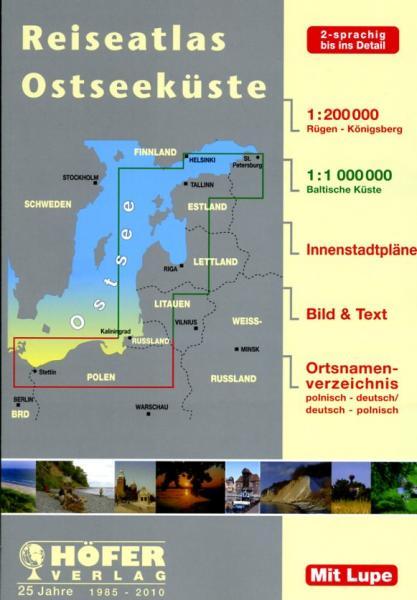TA001  Strassenatlas Ostseeküste 1:200.000 9783931103439  Höfer Verlag Wegenatlassen  Wegenatlassen Polen
