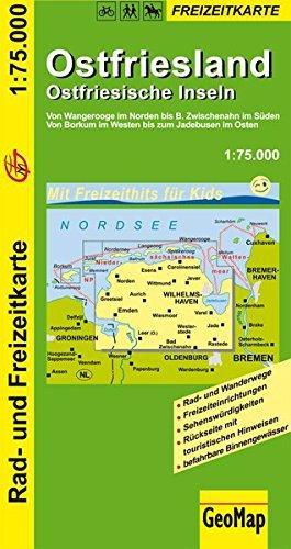 Ostfriesland/Ostfriesische Inseln 1:75.000 9783933671899  GeoMap   Fietskaarten Ostfriesland