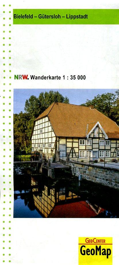 Bielefeld, Gütersloh, Lippstadt 1:35.000 9783936184242  Geomap / LVA NRW Grüne Reihe  Wandelkaarten Teutoburger Woud & Ostwestfalen