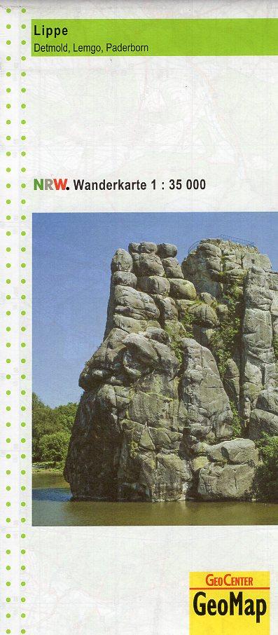Lippe, Detmold, Lemgo, Paderborn | wandelkaart 1:35.000 9783936184259  Geomap / LVA NRW Grüne Reihe  Wandelkaarten Teutoburger Woud & Ostwestfalen