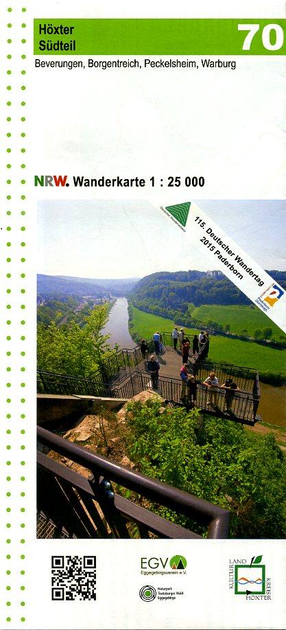 NRW-70 Kulturland Kreis Höxter Südteil | wandelkaart 1:25.000 9783936184280  Geomap / LVA NRW Grüne Reihe  Wandelkaarten Teutoburger Woud & Ostwestfalen