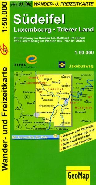 Südeifel 1:50.000 9783936184303  GeoMap Wandelkaarten Eifel  Wandelkaarten Eifel
