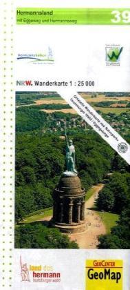 NRW-39 Hermannsland   wandelkaart 1:25.000 9783936184532  Geomap / LVA NRW Grüne Reihe  Wandelkaarten Hessen