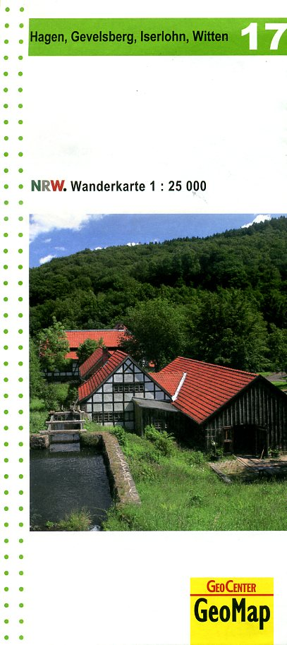 NRW-17 Hagen u. Umgebung | wandelkaart 1:25.000 9783936184563  Geomap / LVA NRW Grüne Reihe  Wandelkaarten Sauerland