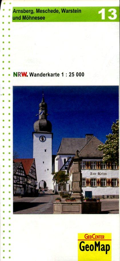 NRW-13 Arnsberg u. Umg. | wandelkaart 1:25.000 9783936184624  Geomap / LVA NRW Grüne Reihe  Wandelkaarten Sauerland