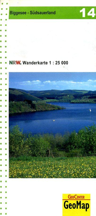 NRW-14 Biggesee/Südsauerland | wandelkaart 1:25.000 9783936184631  Geomap / LVA NRW Grüne Reihe  Wandelkaarten Sauerland
