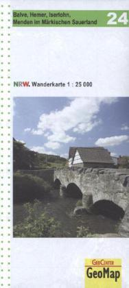 NRW-24 Hemer im Märkischen Sauerland | wandelkaart 1:25.000 9783936184655  Geomap / LVA NRW Grüne Reihe  Wandelkaarten Sauerland
