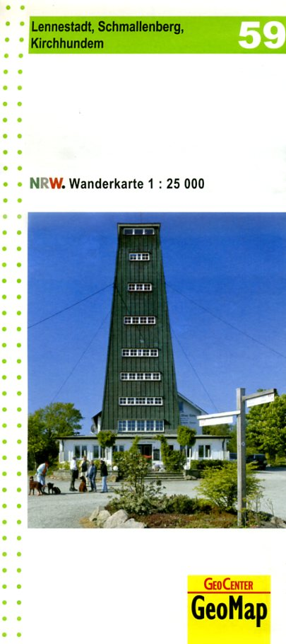 NRW-59  Lennestadt, Schmallenberg, Kirchhundem | wandelkaart 1:25.000 9783936184693  Geomap / LVA NRW Grüne Reihe  Wandelkaarten Sauerland