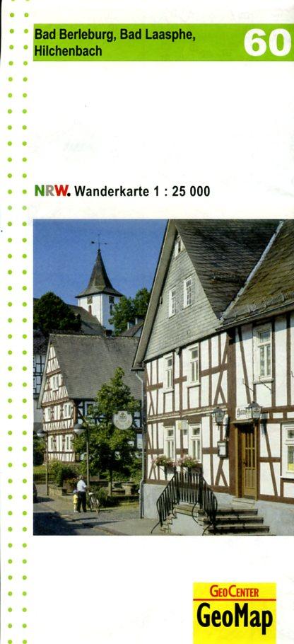 NRW-60 Bad Berleburg | wandelkaart 1:25.000 9783936184709  Geomap / LVA NRW Grüne Reihe  Wandelkaarten Sauerland