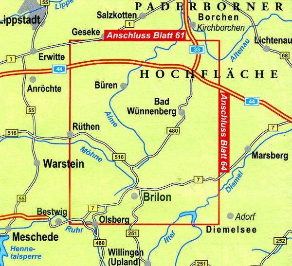 NRW-62  Paderborner Land  Südteil   wandelkaart 1:25.000 9783936184778 Eggegebirgsverein Geomap / LVA NRW Grüne Reihe  Wandelkaarten Teutoburger Woud & Ostwestfalen