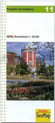 NRW-11 Wuppertal und Umgebung | wandelkaart 1:25.000 9783936184785  Geomap / LVA NRW Grüne Reihe  Wandelkaarten Düsseldorf, Wuppertal & Bergisches Land