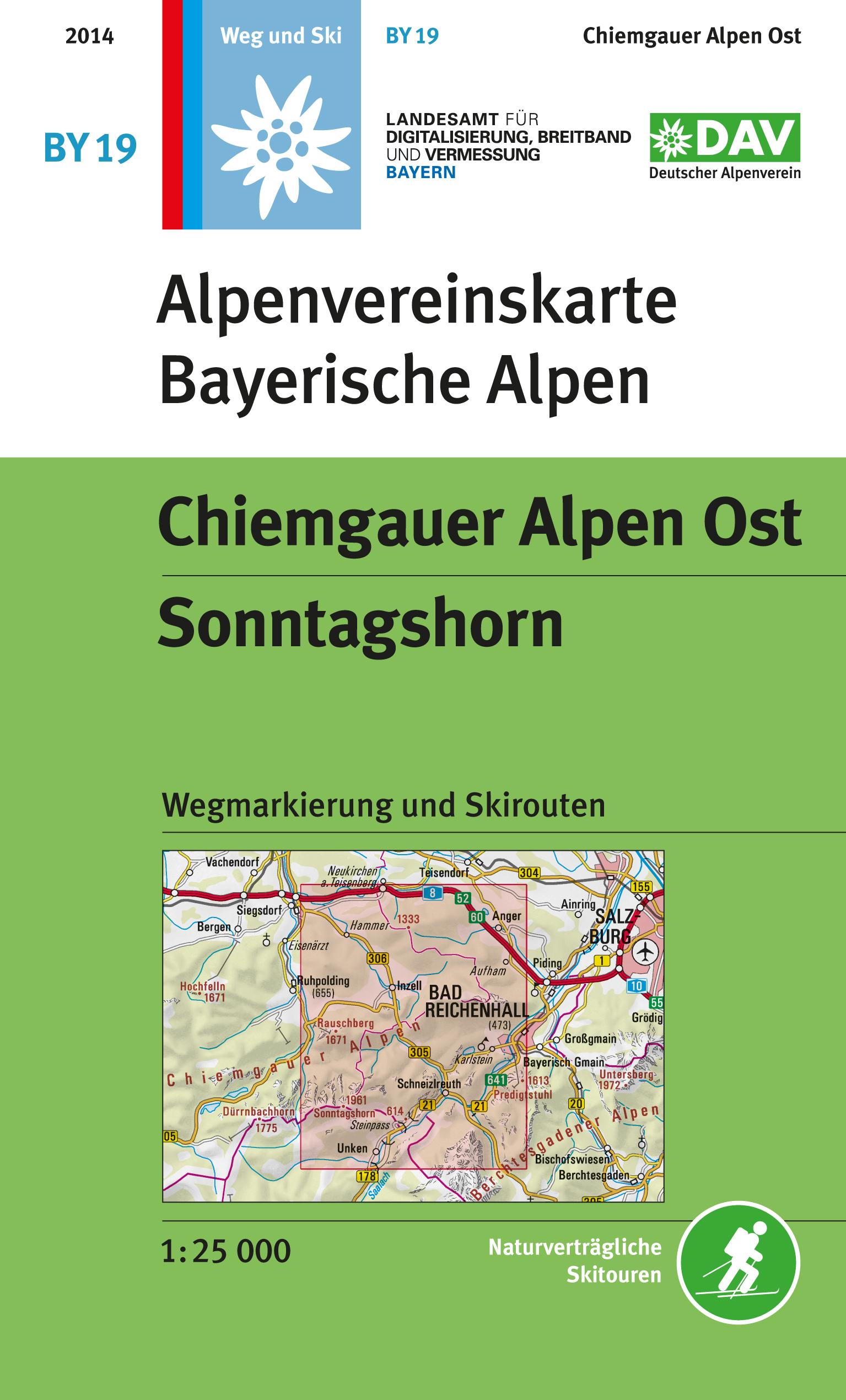 BY-19 Chiemgau-Ost 1:25.000 Alpenvereinskarte 9783937530246  Deutscher AlpenVerein Alpenvereinskarten  Wandelkaarten Beierse Alpen
