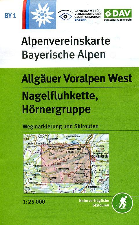 BY-01  Algäuer Voralpen West | Alpenvereinskaart 9783937530413  Deutscher AlpenVerein Alpenvereinskarten  Wandelkaarten Beierse Alpen