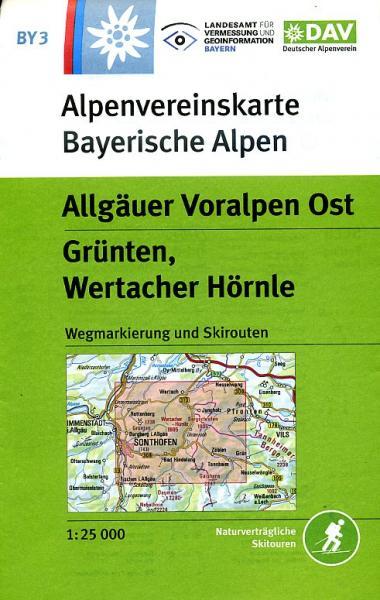BY-03  Algäuer Voralpen-Ost | Alpenvereinskaart 9783937530437  Deutscher AlpenVerein Alpenvereinskarten  Wandelkaarten Beierse Alpen