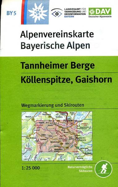 BY-05  Tannheimer Berge | Alpenvereinskaart 9783937530451  Deutscher AlpenVerein Alpenvereinskarten  Wandelkaarten Beierse Alpen