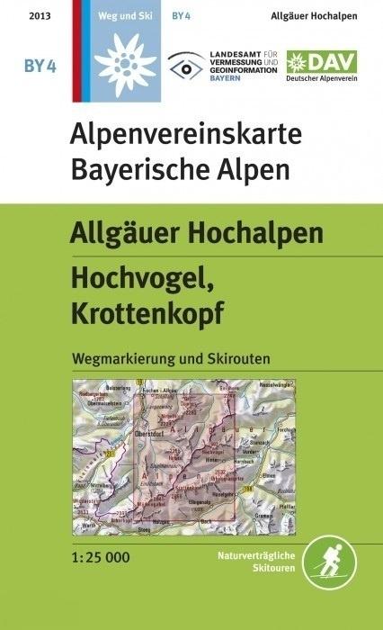 BY-04 Allgäuer Alpen, Hochvogel, Krottenkopf Alpenvereinskarte 9783937530734  Deutscher AlpenVerein Alpenvereinskarten  Wandelkaarten Beierse Alpen