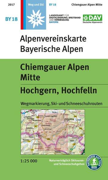 BY-18 Chiemgau, Mitte 1:25.000 Alpenvereinskarte 9783937530758  Deutscher AlpenVerein Alpenvereinskarten  Wandelkaarten Beierse Alpen
