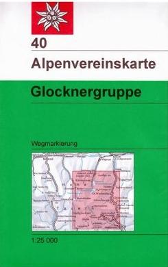 AV-40 Glocknergruppe [2017] Alpenvereinskarte wandelkaart 9783937530789  AlpenVerein Alpenvereinskarten  Wandelkaarten Salzburg, Karinthië, Tauern, Stiermarken