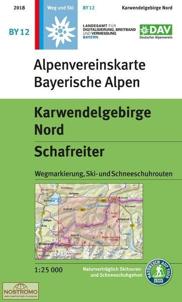 BY-12 Karwendelgebirge Nord 1:25.000 Alpenvereinskarte 9783937530819  Deutscher AlpenVerein Alpenvereinskarten  Wandelkaarten Beierse Alpen