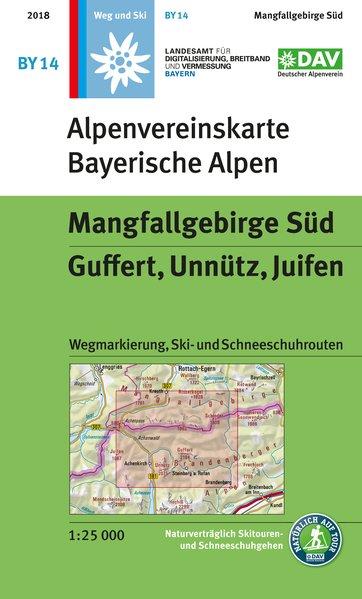 BY-14 Mangfallgebirge Süd 1:25.000 Alpenvereinskarte 9783937530826  Deutscher AlpenVerein Alpenvereinskarten  Wandelkaarten Beierse Alpen
