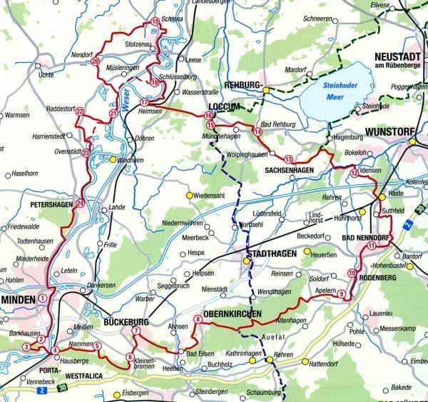 Pilgerführer Sigwardsweg (wandelgidsje met kaarten 1:50.000) 9783941177215  LVA Niedersachsen   Wandelgidsen Teutoburger Woud & Ostwestfalen