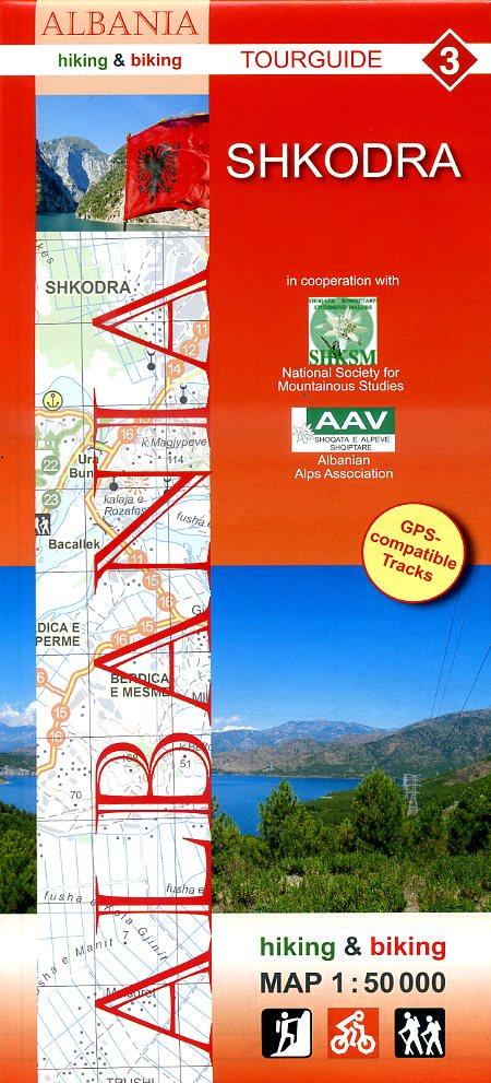 HA-03  Shkodra | wandelkaart 9783943752090  Huber Verlag Albanië 1:50.000  Wandelkaarten Albanië