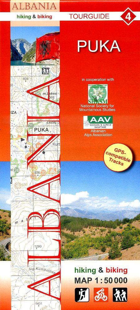 HA-04  Puka | wandelkaart 9783943752106  Huber Verlag Albanië 1:50.000  Wandelkaarten Albanië
